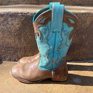 Justin Cowgirl Boots Little Girls 10 Leather